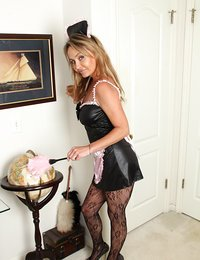 Hot maid shows what she has..